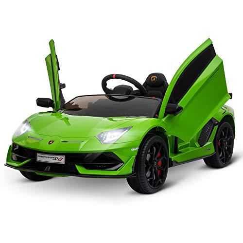HOMCOM Kinderauto Kinderfahrzeug für 3-8 Jahre Elektroauto mit Fernsteuerung MP3/USB Licht Musik Kunststoff...