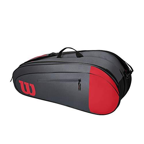 Wilson Tennistasche Team 3, Bis zu 3 Schläger, Rot/Grau, WR8011502001