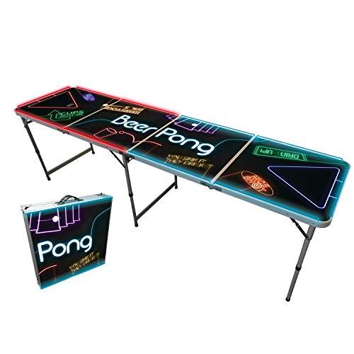 Offizieller Spotlight Beer Pong Tisch | Mit LED Beleuchtung | Premium Qualität | Offizielle Wettkampfmaße |...