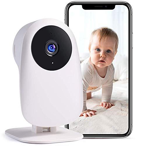 Nooie Babyphone mit Kamera und 2-Wege Audio 2.4G WLAN Kamera 1080P Kompatibel mit Alexa Überwachungskameras...