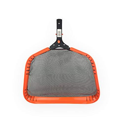 well2wellness® Poolkescher Laubkescher Flachkescher ORANGE mit schwarzem Netz und stabilem Flexrahmen