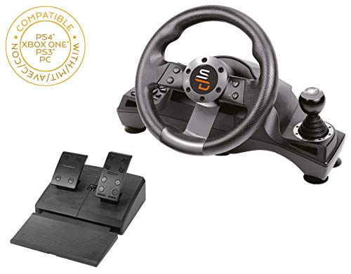 Superdrive - Rennlenkrad / Lenkrad Drive Pro GS700 mit Schalthebel, pedalen und vibrationen für PS4 - Xbox...