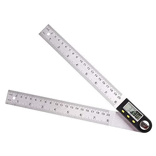 FIXKIT Digitaler Winkelmesser mit LCD-Anzeige aus Edelstahl, Länge:200mm, 360° Winkel messen, ideal für...