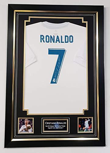 WWW.SIGNEDMEMORABILIASHOP.CO.UK Cristiano Ronaldo of Real Madrid signiertes Trikot mit Autogramm