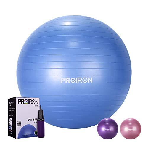 PROIRON Gymnastikball Sitzball Pezziball Physiotherapie-Ball 75cm Blau mit Ballpumpe