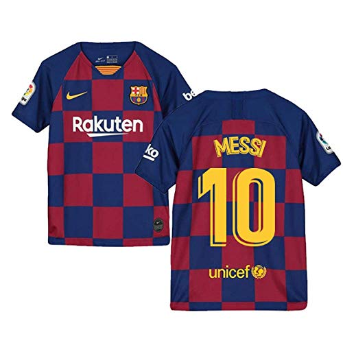 2019-2020 Barcelona Home Nike Football Soccer T-Shirt Trikot (Kids) (Lionel Messi 10)