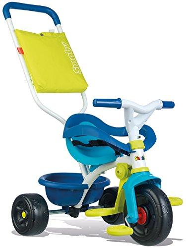 Smoby - Be Fun Komfort Dreirad (blau) – für Babys und Kinder ab 10 Monaten - verstellbares Kinderdreirad...