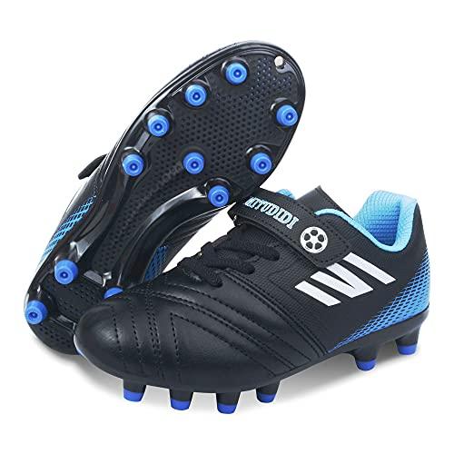 Fussballschuhe Kinder Jungen 35 Fußballschuhe FG/AG Football Shoes Unisex Low Top Fussball Schuhe Junge...