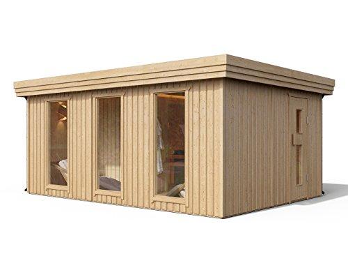 Premium Gartensauna Ardor mit Elektro- Saunaofen Irmina Slimline mit 9 kW Heizleistung und externer Steuerung...