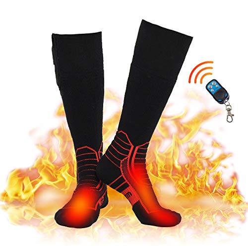 DR. WARM Beheizbare Socken Herren Damen, 7,4V 2600maH Elektrische Wiederaufladbarem Batterie Socken,...