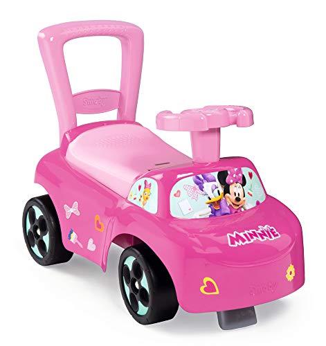 Smoby 720522 Mein erstes Auto Rutscherfahrzeug Minnie, Kinderfahrzeug mit Staufach und Kippschutz, für...