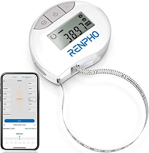 Smart Körperumfangmaßband, RENPHO Bluetooth Maßband zum Messen der Körperumfänge von Bizeps, Brust,...