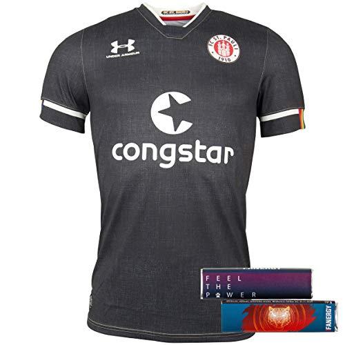 FC St. Pauli Trikot Oberteil Teamshirt T-Shirt DREI 2020-21 Damen Herren Unisex schwarz (L)