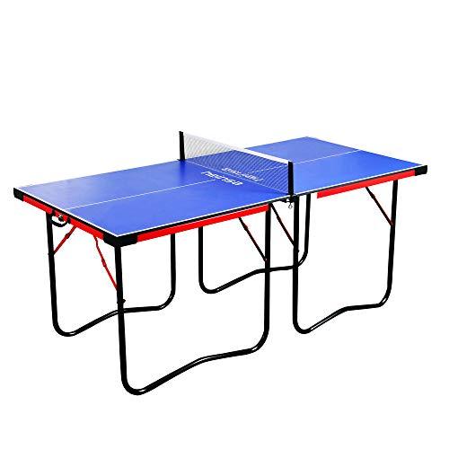 heinsa Premium Mini Tischtennisplatte Indoor - Tischtennisplatte klappbar mit Tischtennis Netz und Tragetasche...
