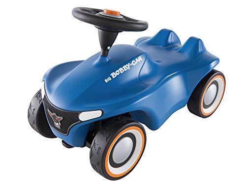 BIG-Bobby-Car Neo Blau - Rutschfahrzeug für drinnen und draußen, Kinderfahrzeug mit Flüsterreifen im...