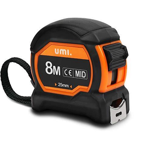 Umi. by Amazon- 8m Maßband, Einziehbar Professionell, mit Metallgürtelclip