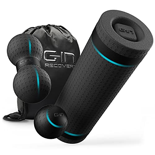 G-IN Faszienrolle ALL-IN-ONE Faszien Set mit Massagekugel und Duoball [ANTI-RUTSCH] - INKL. Online Training...