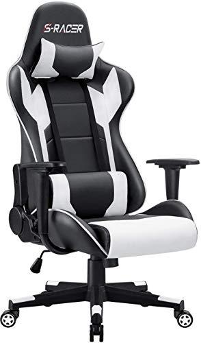 Homall Gaming Stuhl Racing Computerstuhl Ergonomischer Bürostuhl Gamer Stuhl Höhenverstellbarer...
