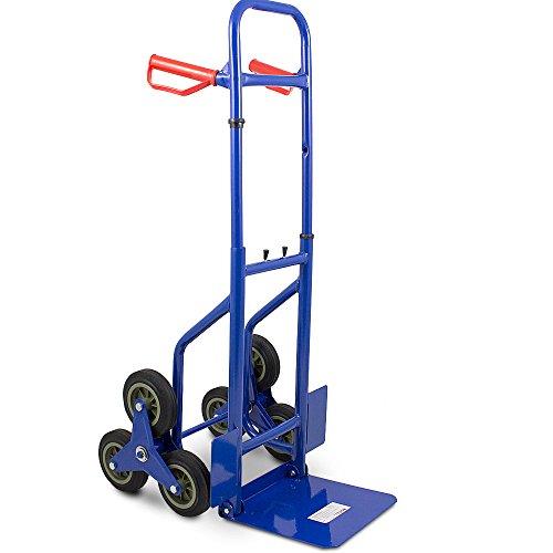 BITUXX® Treppenkarre Sackkarre Treppe Treppensackkarre 200kg Treppensteiger Stapelkarre Klappbar Hartreifen