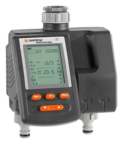 Gardena Bewässerungscomputer MultiControl duo: Bewässerungssteuerung, Wochentage programmierbar, bis zu 3...
