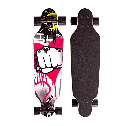 Sumeber Longboard Skateboard 31 Zoll for Anfänger Twin Tip Street Long Board Komplettes Drop-Through Freeride...