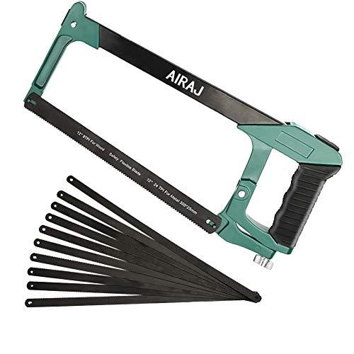 AIRAJ 12 Zoll Metallbügelsäge, multifunktionaler Bügelsägenrahmen mit einstellbarer Spannung, ergonomische...