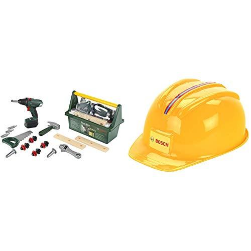 Theo Klein Bosch Werkzeug-Box I Mit Hammer, Säge, Rollgabelschlüssel und vielem mehr I 31 cm x 16,5 cm x...