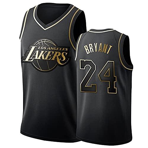 Los Angeles Lakers Kobe Bryant Basketball Trikots 24# Herren, Mamba Mesh Atmungsaktiv Gesticktes Fan Memorial...