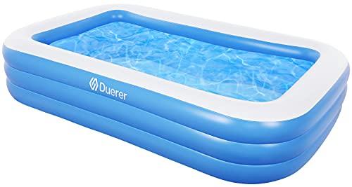 Duerer Aufblasbare Pool, Großer Familienpool, Pool rechteckig für Kinder, Familienschwimmbad, Aufblasbare...