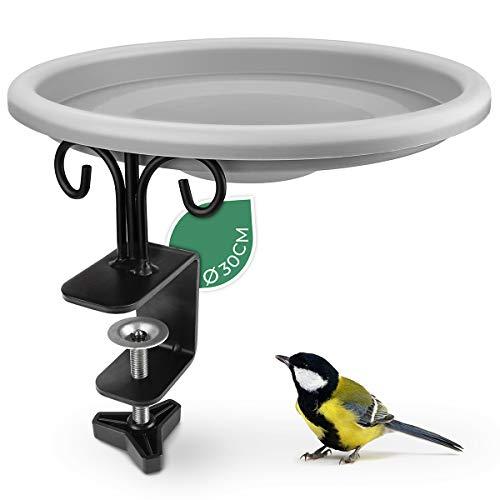 WILDLIFE FRIEND I Vogeltränke hängend für Balkongeländer - frostsicher, Vogeltränke Balkon, (∅ 30cm) XL...