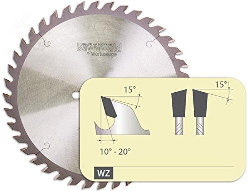 Bayerwald - HM Tischkreissägeblatt für Holz - Ø 250 mm x 3,2 mm x 30 mm | Wechselzahn (60 Zähne/fein) |...