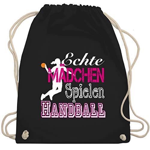 Shirtracer Handball - Echte Mädchen Spielen Handball weiß - Unisize - Schwarz - handball - WM110 -...