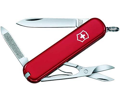Victorinox Taschenmesser Ambassador Klein (7 Funktionen, Nagelreiniger, Nagelfeile, Klinge, Schere) rot