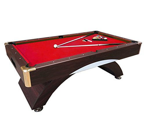 Simba Billardtisch 7 ft Billard Billard-Spiel Messung 188 x 94 cm Neue rot Napoleone verpackt verfügbar rot