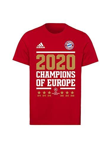 FC Bayern München T-Shirt Champions of Europe 2020 rot, XXL