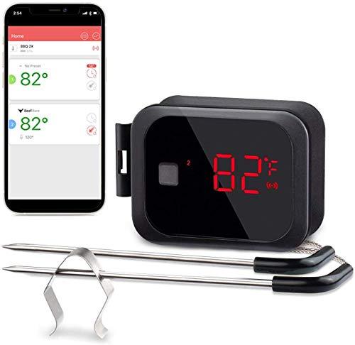 Inkbird IBT-2X Bluetooth 4.0 Barbecue Backofen Grillthermometer BBQ Fleisch Küche Thermometer Timer mit...