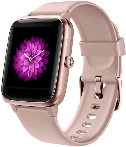 Smartwatch Damen, 1.3 Zoll Touch-Farbdisplay Fitnessuhr mit Schrittzähler, Pulsuhr, Schlafmonitor,...