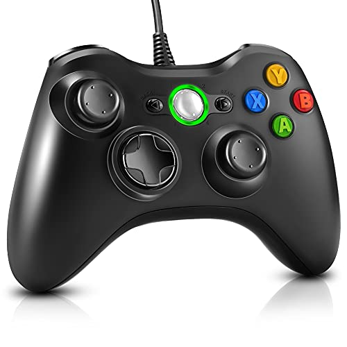 Gezimetie Game Controller für Xbox 360, USB Controller mit Kabel Wired Gamepad Joypad Joystick für Microsoft...