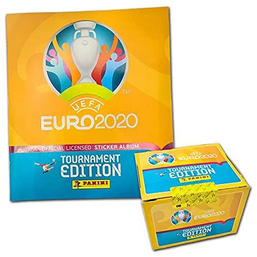 Panini UEFA Euro 2020™ Tournament Edition,100 Stickertüten mit Sammelalbum, offizielle Stickerkollektion