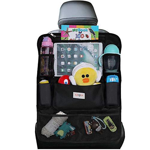 SURDOCA Autositz-Organizer – 4th Generation verbesserter Auto-Organizer Rücksitz für bis zu 10,5 iPad, 9...