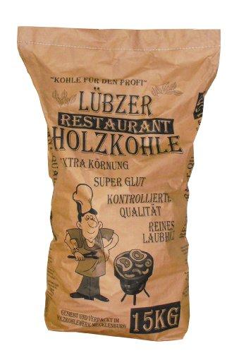 Favorit Grill-Holzkohle 15 kg (aus reinem Laubholz, extra große Körnung, langanhaltende Glut, Grillkohle in...