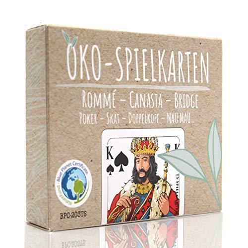 TS Spielkarten Öko Rommee Karten, Canasta, Bridge, Französisches Bild, Skat Poker Mau-Mau Kartenspiel,...