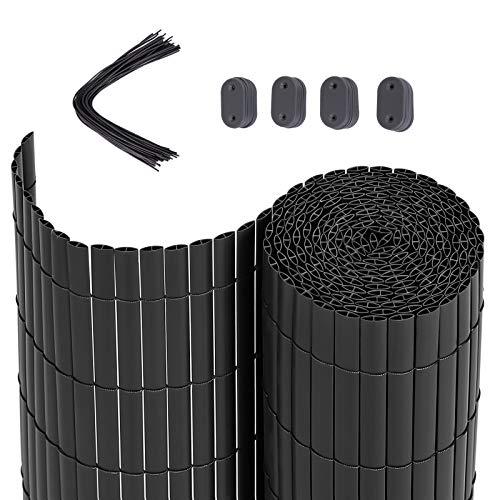 SONGMICS PVC Sichtschutzmatte, 4 x 0,9 m (L x B), Balkonverkleidung, Sichtschutzzaun, Balkonumrandung, Blende...