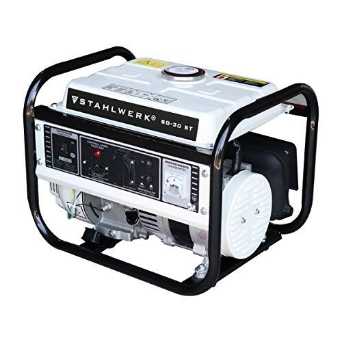 STAHLWERK Stromgenerator SG-30 ST, 3 PS Benzingenerator Stromerzeuger Notstrom Aggregat, zuverlässig und...