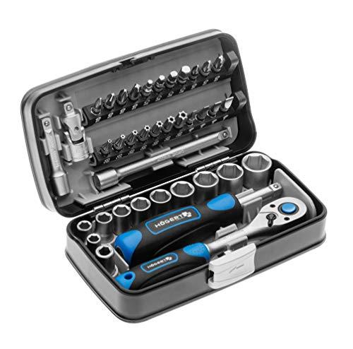 Högert Werkzeugset Werkzeugkoffer – Werkzeugsatz Werkzeug Tools Steckschlüsselsatz Schraubendreher Ratsche...