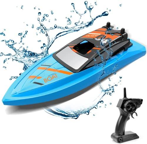 GizmoVine Ferngesteuertes Boot für Pools und Seen, 2.4 GHz RC Boot Outdoor Adventure Elektro-Rennboote für...