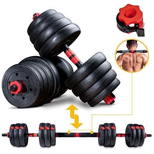 Sportstech 2 in1 innovatives Hantel-Set AH150 | Kurzhanteln & Langhanteln | Hanteln im 20kg, 30kg, 40kg Set |...
