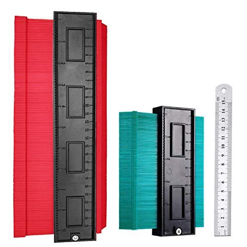 2 Stücke Konturenlehre, DUTISON 250mm und 120mm Kunststoff Konturlehre Duplikator Werkzeug Groß...