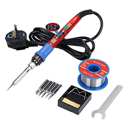 Lötkolben Kit Lötpistole, Schweißwerkzeuge mit digital gesteuertem LCD Bildschirm, 90W Thermostat...