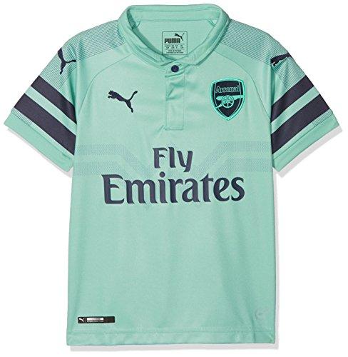 PUMA Kinder Arsenal FC Third Shirt Replica SS Kids with EPL Sponsor Logo Trikot, Biscay Green-Peacoat, 152